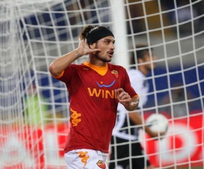 As Roma Osvaldo festaggia il gol sul Parma