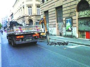 Lavori Via Nizza Roma