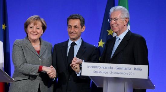 Lo stop della Francia fa slittare il vertice Monti-Merkel-Sarkozy