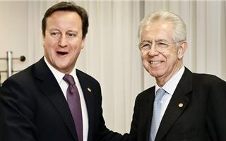 Monti incassa il no della Merkel e vola a Londra da Cameron