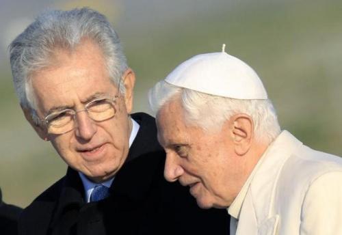 Mario Monti incontra Benedetto XVI