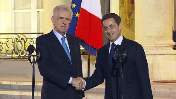 Vertice Monti-Sarkozy: l'Italia tra le grandi per gestire la crisi economica