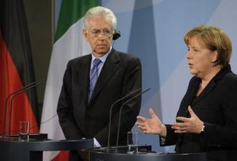 Roma: incontro Monti-Merkel a Palazzo Chigi. L'economia in primo piano