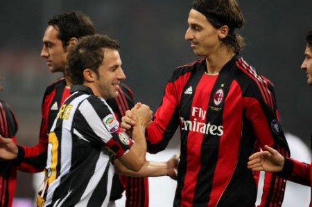 Juventus–Milan: Del Piero sfida Ibrahimovic, le probabili formazioni