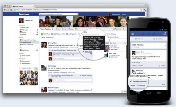Facebook: arriva la notifica di lettura ai post